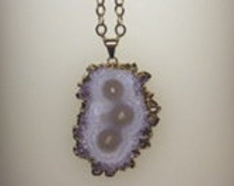 Long and Pretty Amethyst Stalactite Necklace