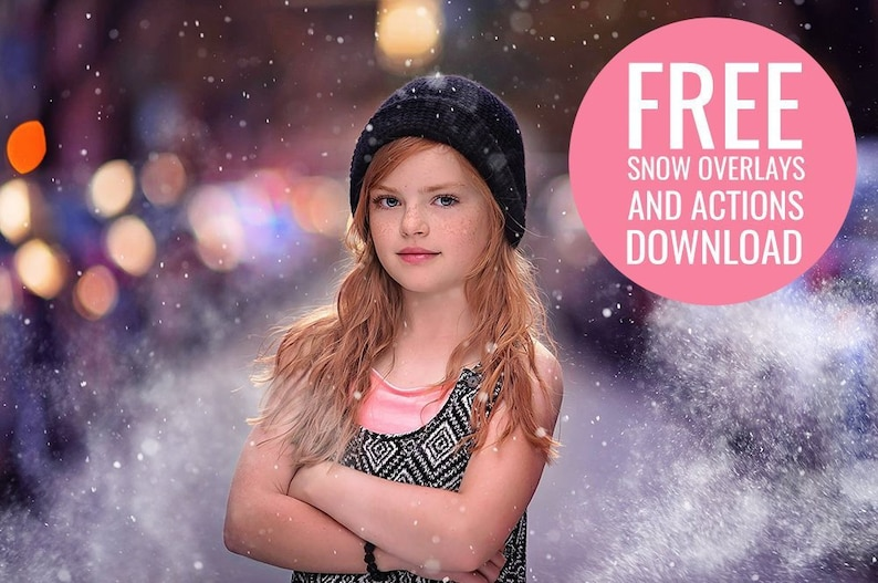 FREE Mini Snow Photoshop Overlay & Photoshop Action Collection for  Photoshop and PSE - Free Photoshop Actions - Free Photoshop Overlays