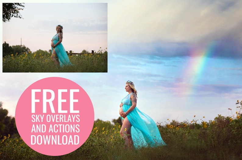FREE Mini Sky Photoshop Overlay & Photoshop Action Collection for Photoshop  and PSE - Free Photoshop Actions - Free Photoshop Overlays