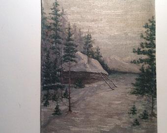 1913 original oil painting..