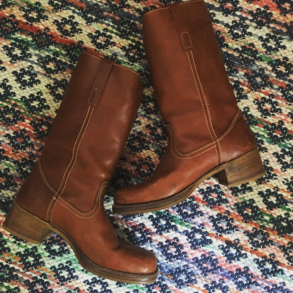 Awesome 1970s Campus Leather boots MENS 9.5/WOMENS