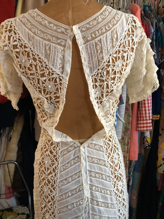 1900s/1910s Edwardian white lace and cotton lawn … - image 3