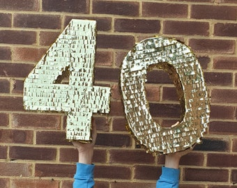 Number piñata Made to order