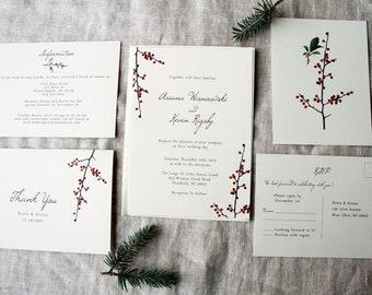 christmas wedding invitations etsy