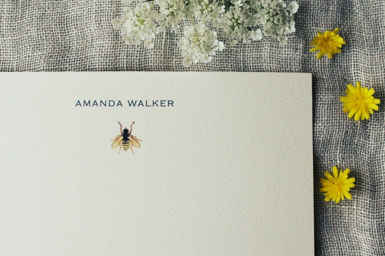 Bee Notecards with Envelopes  Honey Bee Note Cards Handmade  image 0