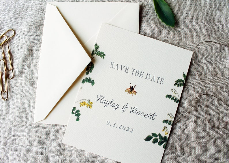 Bee Wedding Save The Date Cards  Honey Bee Wedding Save The image 0