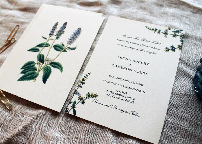 Lavender Place Cards Herbal Wedding Place Cards Template Printable Wedding Place Cards Herbal Place Cards Editable Escort Cards DIY