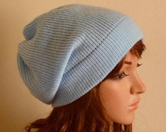 a58ea085a50 Sky blue slouchy hat