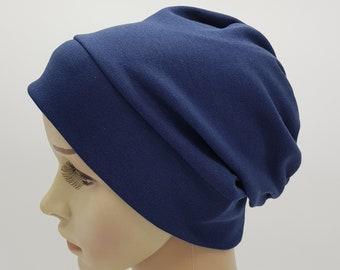 Black Beanie Bad Hair Day Hat Jersey Extensible Chapeau Coton Bonnet