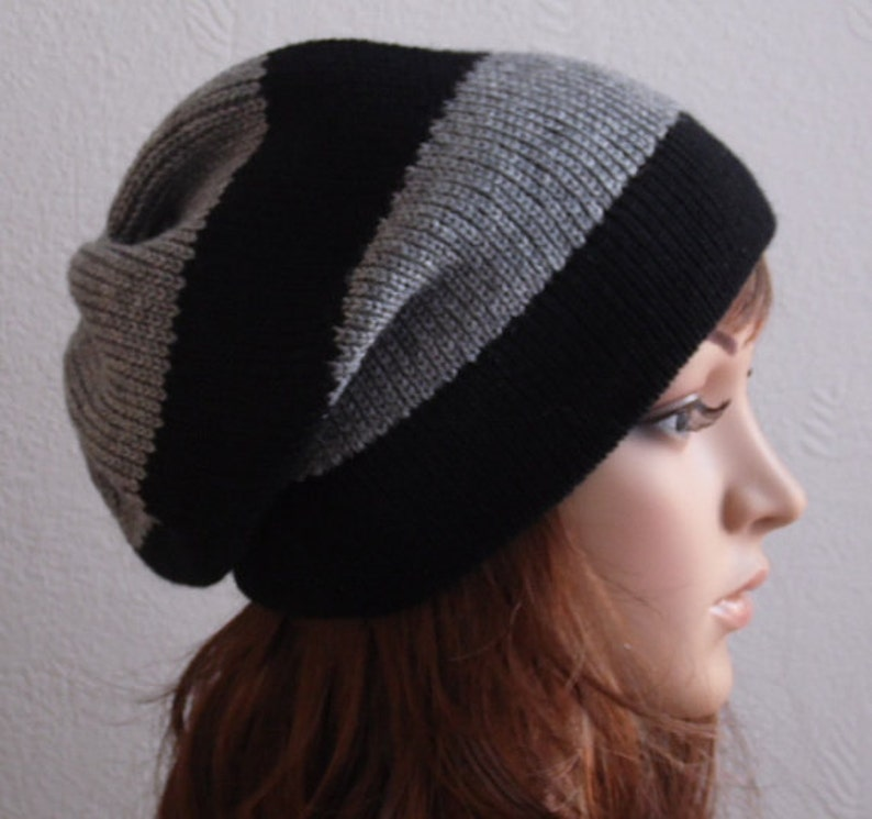 1ee805fdec4 Knit hat slouchy hat knitted slouchy beanie handmade