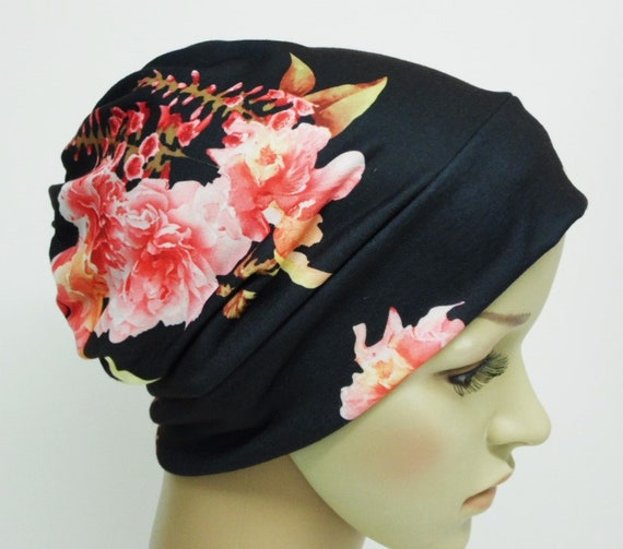 3c0af3096e1 Floral beanie for women summer beanie hat bad hair day hat