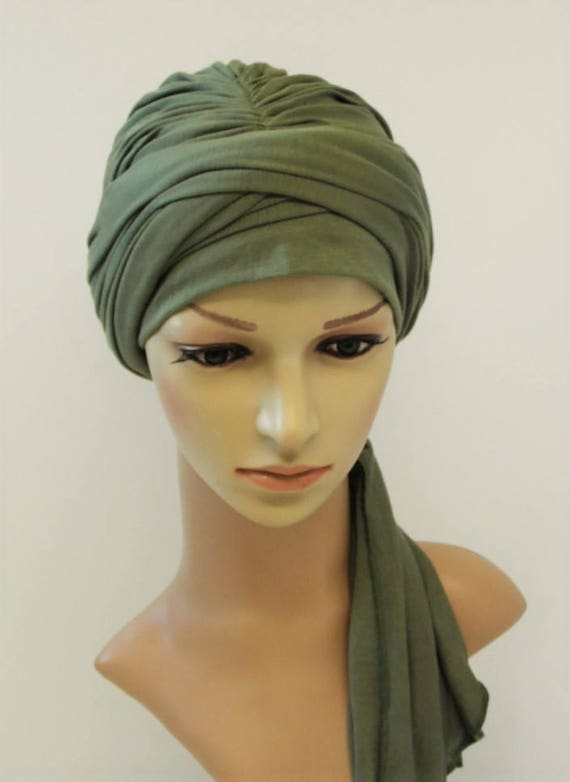 couvrir la tête pour perte de cheveux Full Turban chapeau avec liens Chimio Tête Usure Turban