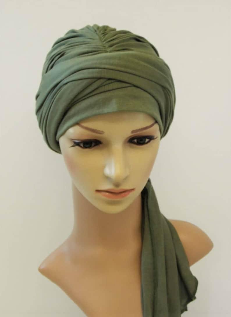Lo snood turbante di volume testa piena copertura sciarpa di  cfe6ec893ec7
