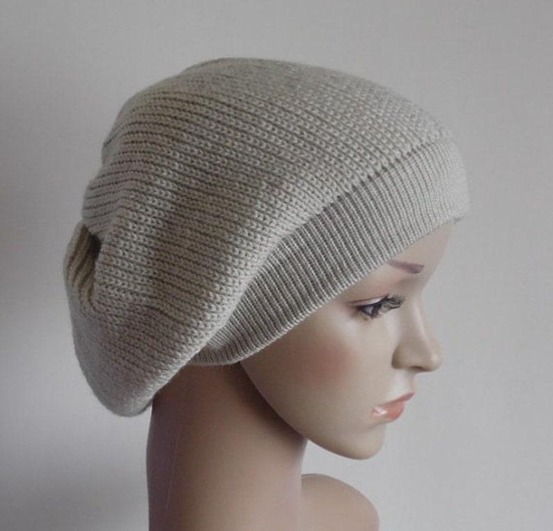 184dfc566363b Women s beret slouchy beanie hat knitted beret fall