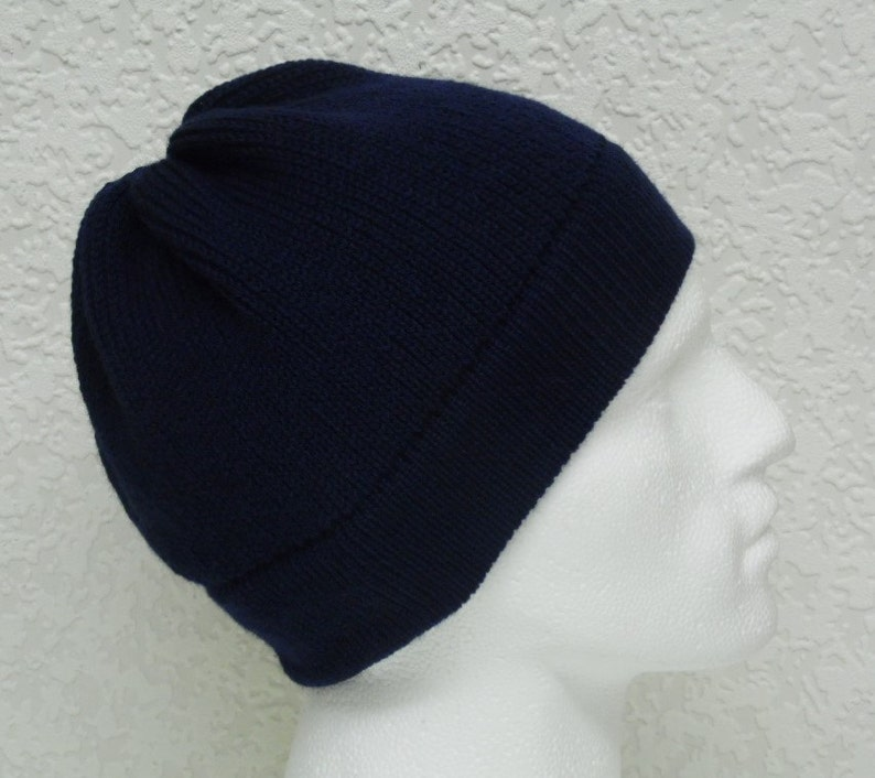 25724c6bcfe Navy blue men s beanie handmade hat for men men s