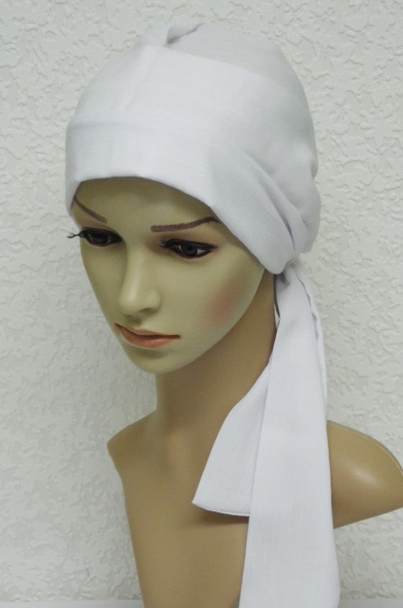 Chemo Head Wear Bonnet For Short Hair Head Scarf For Hair Etsy