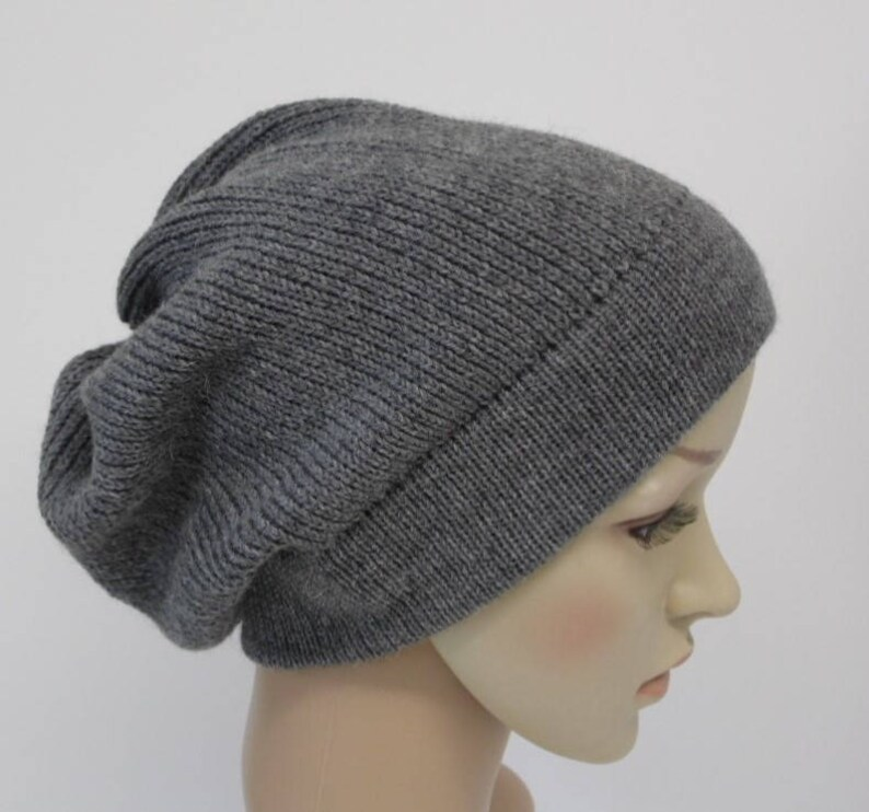 ca35a523aa2 Knitted beanie winter hat for women slouchy beanie hat