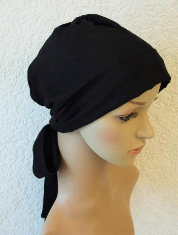 foulard noir sur la t te mauvais poil jour couvre chef etsy. Black Bedroom Furniture Sets. Home Design Ideas