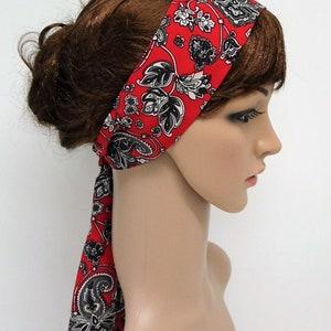 summer headscarf long head scarf hair tie Long headband self tie hair scarf
