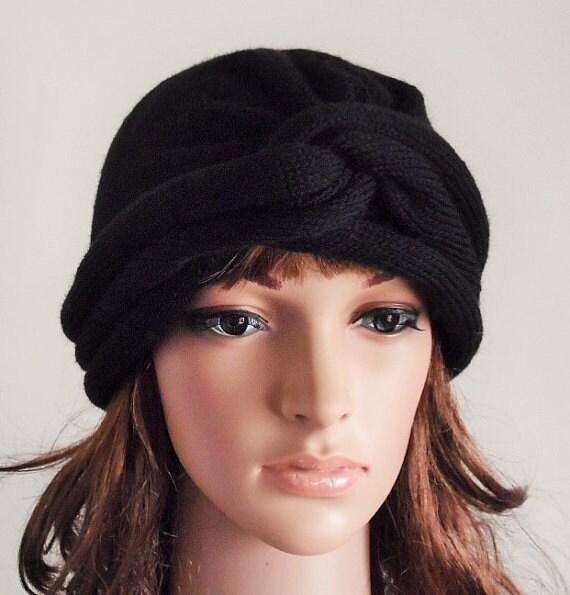 4165c728ddb3e Black turban hat volume turban for women handmade winter hat