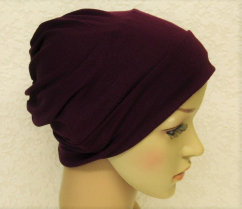 b60c1c8a658 Viscose jersey beanie bad hair day hat chemo head wear