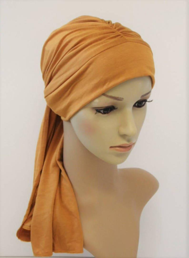 LVOW Delle Donne Morbido Elastiche Fascia per Capelli Lungo Testa Wrap Sciarpa Turbante Cravatta