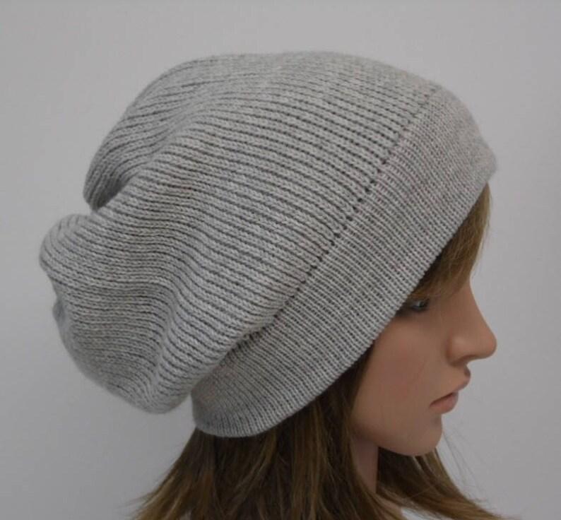 ea879a86d61 Knit slouchy beanie for women alpaca wool beanie hat