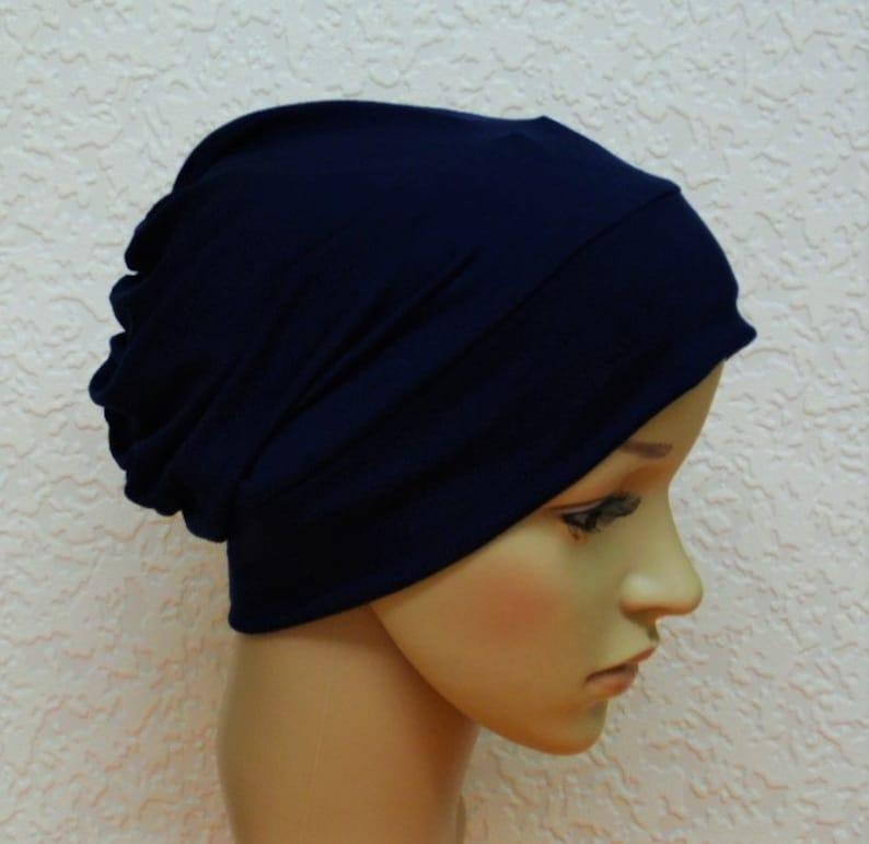 Marineblauwe Chemo Muts Vrouwen Chemo Hoed Muts Voor Etsy