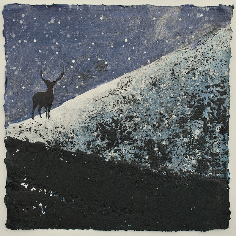 Painting of a Stag Original Painting Stag Painting Decor image 0
