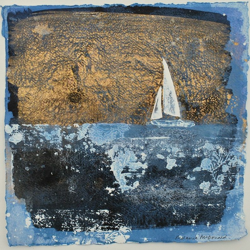 Buy Cornwall Art in the UK Original Painting 12x12 Inches image 0