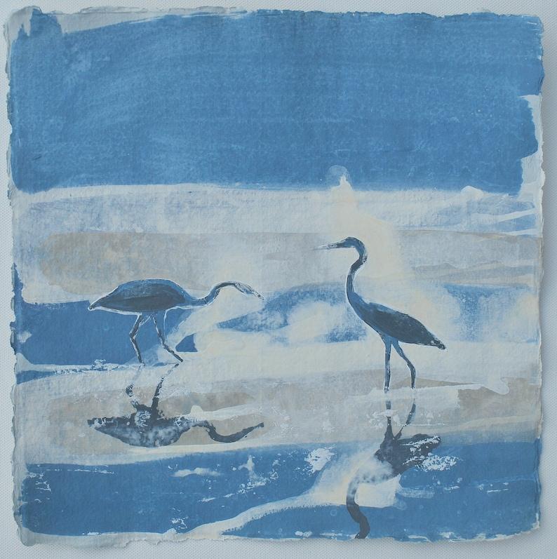 Painting of Herons Watercolour Painting of Herons Inspired image 0