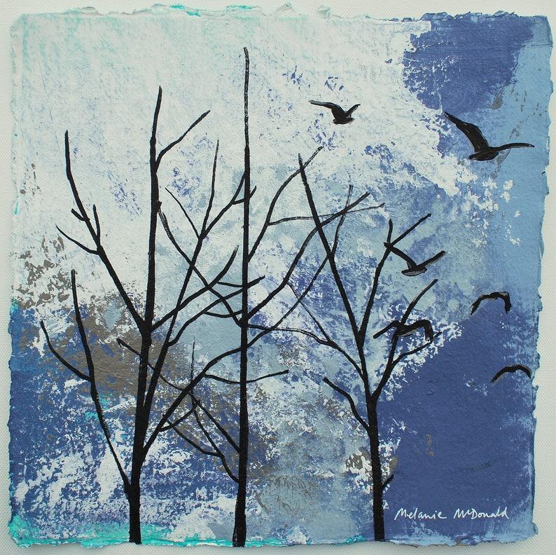 WINTER PAINTING  winter sky  painting of winter  image 0