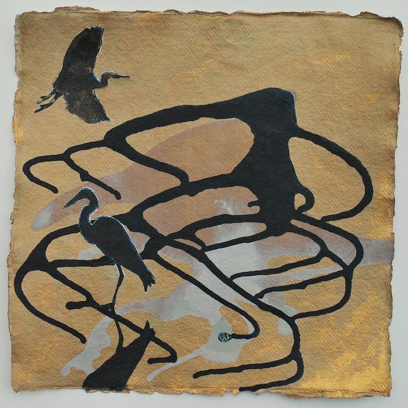HERON PAINTING Original Painting of Herons Herons in image 0