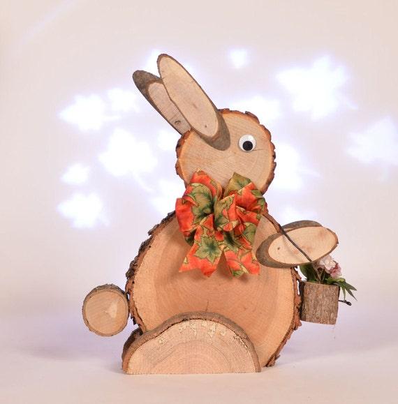 Rustic log slice rabbit, log Easter bunny, wooden rabbit, standing on rabbit photography, rabbit compost, rabbit tractor plans, rabbit hill house, rabbit cage tractor, rabbit fruit, rabbit hole house, rabbit garden house, rabbit greenhouse,
