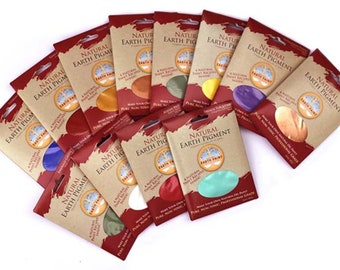 3 oz Natural Earth Pigments: Individual Packets