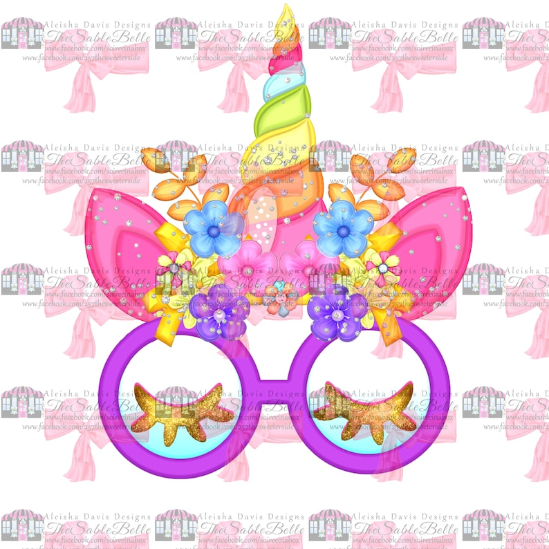 The Sassiest Unicorn Glasses TEN Graphics