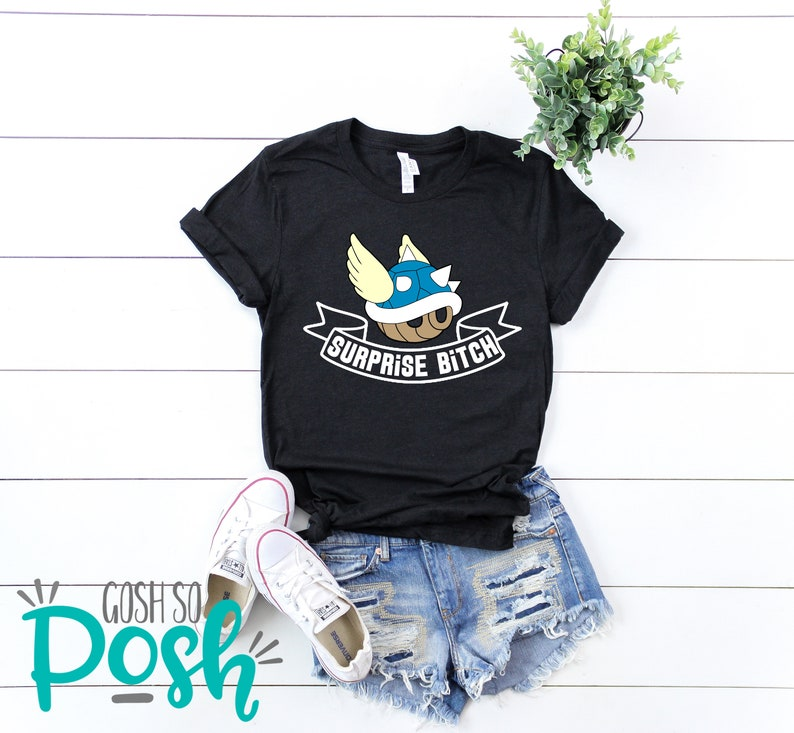 Blue Shell  Suprise Btch T-Shirt  Spiney Shell Tee  Flying image 0