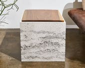 Minimalist SQR Concrete Side Table / Nightstand