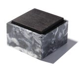 Black and White Marbled Square Concrete Box with solid wood lid / Minimalist, Modern Home Decor, Jewelry Box, Container