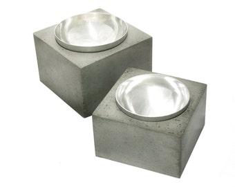 Orb Pet Bowl / concrete dog bowl / concrete cat bowl /dog bowl/ cat bowl