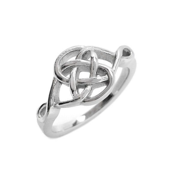 Celtic Knot Ring Silver Infinity Jewelry Stainless Steel