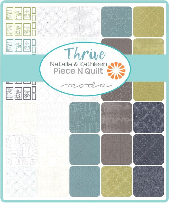 Thrive Charm Pack By Natalia Kathleen Of Piece N Quilt For Etsy