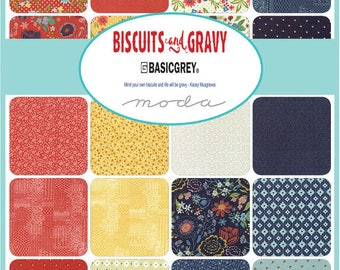 Biscuts & Gravy Charm Pack by Basic Grey for Moda