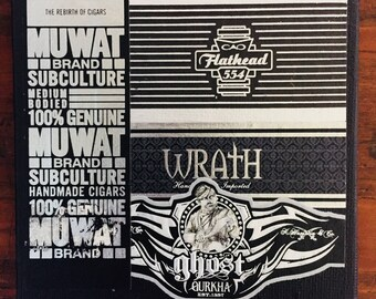 2017 Cigar Band Collage Coaster: Wrath of the Flathead Ghost