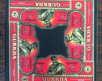 2018 Cigar Band Collage Coaster: Gurkha Red