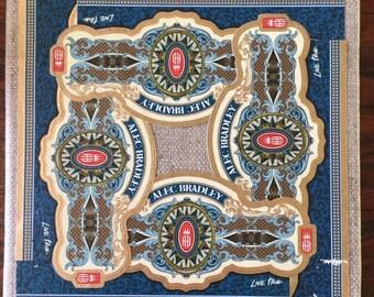 2018 Cigar Band Collage Coaster: Alec Bradley Live True Blue