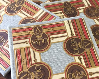 2018 Cigar Band Collage Coaster: OLiVA Elegance (set of 4)
