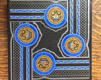 2019 Cigar Band Collage Coaster: Celebrating 300 Years of Freemasonry 1717-2017 New Jersey Grand Lodge