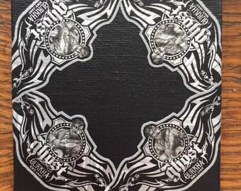 2019 Cigar Band Collage Coaster: Gurkha Ghost Cornered