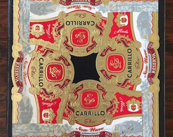 2018 Cigar Band Collage Coaster: Cardinal Carrillo